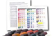DYE BLOCKS / Our dye blocks are a unique system for coloring candles. No scales for weighing or prior knowledge about using dyes in making candles is necessary. It is all laid out and easy to follow on a color chart with directions under each color swatch. / by Lone Star Candle Supply, Inc.