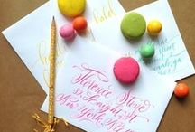 Calligraphy LOVE / Modern calligraphy, hand lettering, envelope gorgeousness. / by Lemontree Calligraphy and Illustration