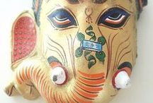 Masks/puppets/figurines / by Gagan/Of Peacocks and Paisleys..