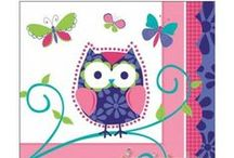 Owl Themed Party Ideas, Decorations, and Supplies! Kids, Birthday, Baby Shower / Party planning centered around Owls- perfect for a Baby Shower, Bridal Shower, or a Birthday Party! Colors are bright purple, vivacious pink; with a vivid turquoise and lime green as accents. Plenty of DIY, games, and crafts that are sure to put the perfect touch on your next celebration! Happy hooting! / by Hard To Find Party Supplies