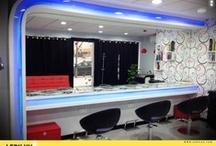 Peluqueria HADAS (San Vicente Del Raspeig) / Proyecto de decoracion y eficiencia energetica  Decoracion con tiras LED y downlight LED 20w  / by LEDILUX Iluminación