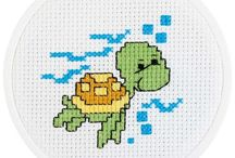 Fish/boats/frogs/water crossstitch / by Terry Porter