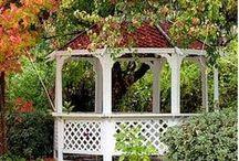 Fences, Gates, Arbors, Pergolas & Other Garden Structures / by Jan Fox