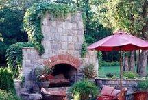 Backyard Fireplaces, Firepits, Ovens / by Jan Fox