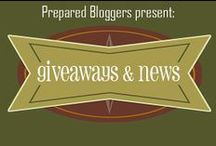 Blog News & Giveaways / Prepared Bloggers - sharing giveaways, weekly wrap-ups, big news and other great info from our blogs! Find us on Facebook @ https://www.facebook.com/PreparedBloggers / by Prepared Bloggers