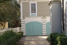 Exterior & Outside / White w. black shutters and a bright door. Thinking bluish green or violet.  / by Heidi Lally