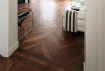 Crazy about Flooring / I literally get emotional over flooring.. I have a connection with glossy, dark stained, wide planked, distressed, herringbone floors. LOVE!!!!!!! / by Heidi Lally
