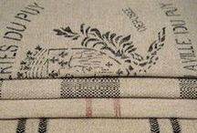Burlap and Antique Sacks / by Like Mandy