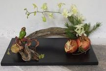 Ikebana  - 生花 / The art of ikebana, traditional Japan flower bond  literally means life, held flowers. >  Keep love in your heart. A life is like a sunny garden, where flowers alive and bloom.   / by Endzsie Seffi