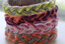 DIY Projects - Crafts / Fabric/ribbon crafts - yarn crafts & other random ideas / by Nicole (wonkywonderful)