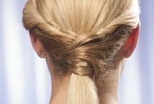 Bridal Party Wedding Hair | Easy DIY Hair Styles for Bridesmaids / You love the bride with all your heart but after the costs of the shower, bachelorette party and then some - having the money set aside to have your hair professionally done the day of the wedding can be tough. Try out these easy, elegant styles on your own ahead of time and you'll look like you went to a salon. Learn more dream wedding tips on a budget at: http://www.hairperfecter.com/weddings-budget-cheap-wedding-tips/ / by Perfecter Beauty Brands