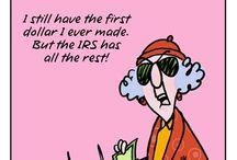 Maxine by John Wagner (creator) / The Web's grumpiest human.  You gotta love her sarcastic but humorous take on life.                    Love Maxine / by Gloria Kim