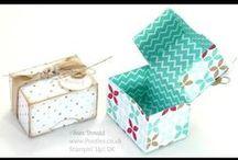 gift wrapping - doosjes maken - boites / patronen van doosjes / by Sylvie Cominotto