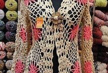 crocheted cardigans/shrugs / by Kelly Vuick