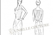 The Sketches / A peep of the baby forms of those gorgeous dresses. / by Unielle Couture