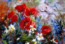 Other artists paintings / Landscape, flowers, gardens paintings.  / by Nora Meissner