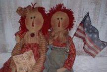 RAGGEDY DOLLS, PATTERNS ETC. / by Hammack's Wood-N-Cloth Crafts