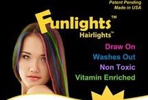 Funlights™ Hairlights™ / Funlights™ Hairlights™ is an innovative, fun-to-use product that comes in great colors for tweens, teens, and young adults. Simple and easy to use, Funlights™ instantly puts great streaks of color in your hair.  / by ARSyle Institute