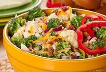 Salads  (Vegetable,Fruit or Pasta) / Salads of all kinds. ( Lettuce ,Cabbage, Fruits, Pasta, etc.) / by Ginger Hofer