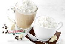 White Chocolate Mocha and White Hot Chocolate / Krispy Kreme® is adding the creamy flavor and silky smoothness of Ghirardelli® White Chocolate Sauce to your favorite caffeinated and uncaffeinated beverages. Krispy Kreme White Chocolate Mocha and White Hot Chocolate are available February 18 through April 21 at participating US Krispy Kreme locations. / by Krispy Kreme
