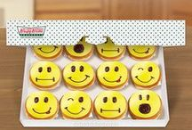 Fun Face Doughnuts For National Smile Week / It's National Smile Week. Meet our new Fun Face doughnuts, and share the smiles with friends! Aug 11-17 2014 US/CAN / by Krispy Kreme