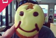 Sharing Smiles #NationalSmileWeek2014 / Spreading the joy and smiles that fun face doughnuts bring to doughnut lovers everywhere. / by Krispy Kreme