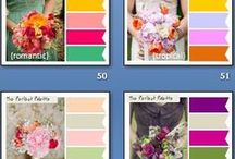 Wedding Color Palettes  / Ideas for Wedding Colors. The possibilities are endless! The thing you want to concentrate on is how the colors make you feel because that will set the tone of your Wedding. Think about what touches your heart as far as things, places Memories and what you dream about  / by Bonita Zimmerman-Carson