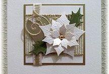 CHRISTMAS - Cards (Poinsettia) / by Karen Wheatley