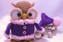 Crochet / knit owls / by Kristi Sakk