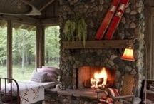Cabin / Camping / Fire Pit / by Julie Wilson