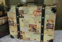 Handcrafted Retro Vintage Luggage / Artisan Handcrafted Retro Vintage Luggage Keepsake Boxes http://www.liquiwork.com/dust-bags.html / by Liquiwork.com