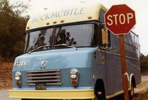 Bookmobiles / Did you know Santa Cruz Public Libraries had their very own Bookmobile? This mobile branch brings library services far and wide, see if you can spot us around town! / by Santa Cruz Public Libraries