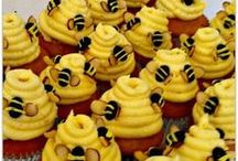 ~ Bumble Bee Theme Baby Shower ~ / Ideas for planning a bumble bee inspired baby shower. / by All Diaper Cakes