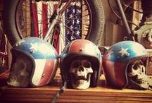 custom motorbikes / helmets / by nik corvo