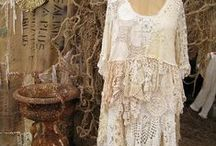 Shabby Boho Chic / recycled repurposed clothing to a new beautiful look! / by Breast Cancer Addies Trinkets Jewelry and Awareness