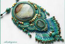 Bead Embroidered Jewelry / Bead embroidered jewelry / by Jennifer Sharpe Coggan