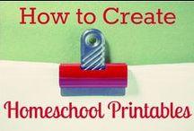 Homeschool printables / by Misty B