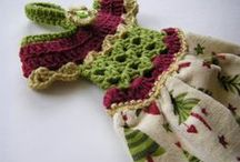 Crochet Kitchen -- Towel Toppers and Towel Rings / by Bea Luvs Crochet