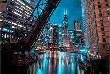 Chicago is my Kind of Town! / I was fortunate to start my adult life when I went to art school on the corner of Michigan and Chicago Avenues.  And, though I have lived many places in my life, I keep coming back to my favorite city -- Chicago! / by Nan Barnum