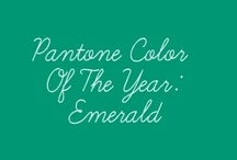 2013 Pantone Color of the Year- Emerald / by Tupper Manor