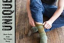Unique Feet: Men's Socks from the Unique Sheep / Patterns from the book Unique Feet: Men's Socks from the Unique Sheep, by Laura Lough. Features designs by Katya Frankel, Janine Le Cras, Laura Lough, LoBug Designs, Erssie Major, Merike Saarniit, Charles Voth, Tanya Wade, Sarah Wilson, and Don Yarman. www.cooperativepress.com / by Cooperative Press