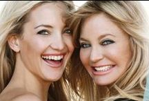 Goldie & Kate / Goldie Hawn & Kate Hudson ~ Mother & Daughter ~ both actresses and beautiful sophisticated women ~ Magnificent! / by Jessica Gelvin
