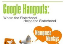 Google Hangouts  / It's an opportunity to get your most pressing #perimenopause/#menopause and #women's #health questions answered. #menopausemondays #googlehangout #ellendolgen / by Ellen Dolgen