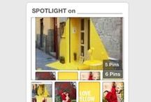 SPOTLIGHT on _______________ / • ••  Fun things that are RED or YELLOW. ••• / by Chris R
