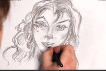 How to Draw a Woman's Face / Free tutorial on how to draw a woman's face. Learn free online! / by How To Draw