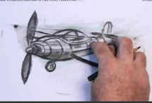 How to Draw an Airplane in Two Point Perspective / Learn how to draw the cartoon airplane in two point perspective with the professional artist. / by How To Draw