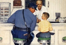 """Norman Rockwell  / A true """"Americana"""" painter,capturing the simpler time of life / by R J"""