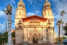 Hearst Castle / The home of William Randolph Hearst in San Simeon, Ca. Approximately half way between San Francisco and Los Angeles, it is worth seeing. The history and tours are incredible. / by R J