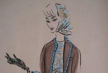 Fashion Illustration/Vintage Design Illustration / by Digital Dorkette Dolls