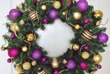 Purple and Gold Christmas Decorations / Purple and gold Christmas decorations provide a different touch for Christmas - rich and elegant while also being warm and welcoming. / by Home and Family Favorites